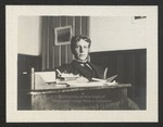 Merle Reynolds Griffeth at Desk, Westbrook Seminary, Class of 1897