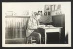 Arthur Jesse Chick at Desk, Westbrook Seminary, Class of 1897