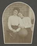 Clara Pitman and Alice Priest, Westbrook Seminary, Fall Term 1899