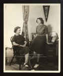 Barbara Smith and Anne Blanchard, Westbrook Junior College, 1938