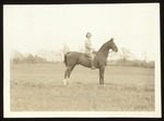 Adell Minor Astride a Horse, Westbrook Junior College, Class of 1941
