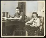 Two Westbrook Junior College Students Studying, 1941