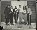Five Westbrook Junior College Ski Team Members with Coach, 1949