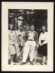 Three Westbrook Junior College Students at Bowdoin House Party, 1940-41