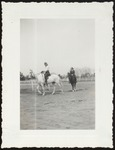 Two Westbrook Junior College Students Riding Horseback, 1940