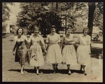 """""""Crossing Campus,"""" Westbrook Junior College, 1950s"""