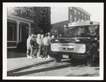 Eight Students Board Bus, Westbrook Junior College, 1950s