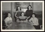 Five Students in Proctor Memorial Room, 1950s by Jackson-White