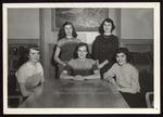 Five Students in Proctor Memorial Room, 1950s