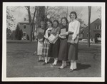 Five Students on the Green, Westbrook Junior College, 1959