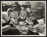 Six Westbrook Junior College Students Playing Bridge, mid-1950s by William M. Rittase