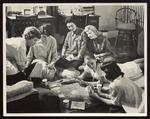 Six Westbrook Junior College Students Playing Bridge, mid-1950s