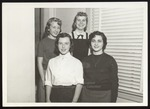 Four Westbrook Junior College Students at Window, 1950s