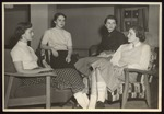 Four Westbrook Junior College Students Seated in Lounge, Mid-1950s