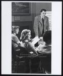 Three Westbrook Junior College Students in Proctor Memorial Room, Mid-1950s