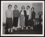 Five Standing Students, Westbrook Junior College, 1958
