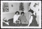 Three Westbrook Junior College Students Sitting on a Bed, Late 1950s