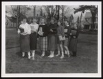 Seven Westbrook Junior College Students Pose on the Green, 1950s