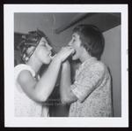 Two Students Brushing Teeth, Westbrook Junior College, 1950s