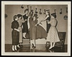 Decorating for a WAA Dance, Westbrook Junior College, 1957