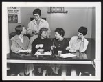 Five Students at the Cafe Counter, Westbrook Junior College, Jan 1957