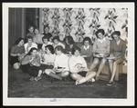 Rainy Sunday Pizza Party, Westbrook Junior College, 1957