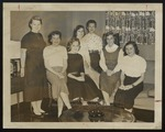 Seven Westbrook Junior College Students in Lounge, 1957