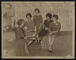Five Westbrook Junior College Students in a Dorm Room, 1963
