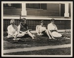 Four Westbrook Junior College Students Studying in the Sun, June 1959