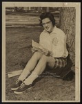 Westbrook Junior College Student Reading Mail, 1957