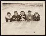 Five Westbrook Junior College Students in the Snow, 1950s