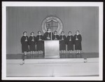 Eight Students at Candlelighting, Westbrook Junior College, 1957