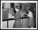 """""""Just Charge It,"""" at the Cafe, Westbrook Junior College, 1957"""