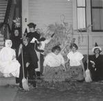 Seven Students in Halloween Attire, Westbrook Junior College, 1957