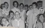 Twelve Students in Pajamas, Westbrook Junior College, 1957