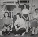 Six Students in Front of Window, Westbrook Junior College, 1957