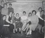 Twelve Students in Front of Map, Westbrook Junior College, 1957