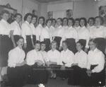 Twenty-One Students in White Blouses, Westbrook Junior College, 1957