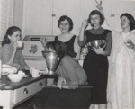 Five Students in a Dormitory Kitchen, Westbrook Junior College, 1957
