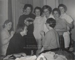 Eight Students in a Dorm Room, Westbrook Junior College, 1957