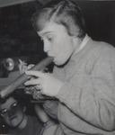 Student Holding a Huge Cigar, Westbrook Junior College, 1957