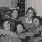 Five Students Under an Afghan, Westbrook Junior College, 1957
