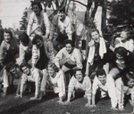 Fifteen Students Form a Human Pyramid, Westbrook Junior College, 1957