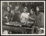 Freshmen Barbecuing at Crescent Beach, Westbrook Junior College, September 1968