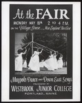 """At the Fair"" Poster Depicting the Maypole Dance, Westbrook Junior College, 1964"