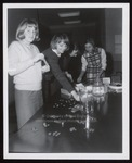 Four Students Rolling Coins, Westbrook Junior College, 1960s