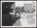 Stephen Halpert Walking from Alumni Hall, Westbrook Junior College, ca. 1965