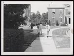 Stephen Halpert Walking from Alumni Hall, Westbrook Junior College, ca. 1965