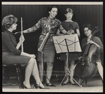 Phyllis Elhady with Musicians, Westbrook Junior College, May 1968