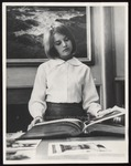 Student in Library, Proctor Hall, Westbrook Junior College, 1965
